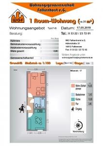 1 Raum Wohnung